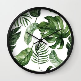 Tropical Leaf Wall Clock