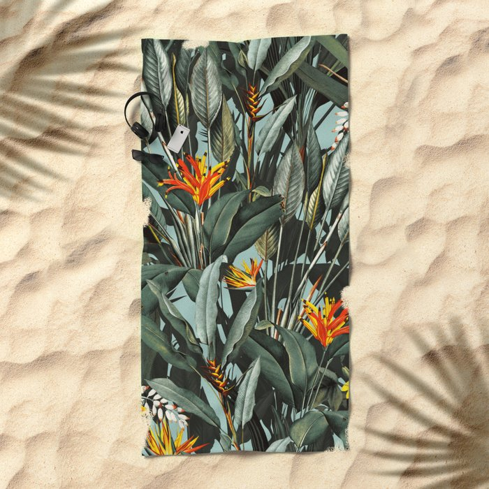 Midnight Garden VIII Beach Towel