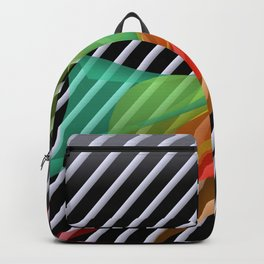 bicubic waves in opart design -1- Backpack