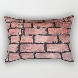 Vintage Brick Street Rectangular Pillow