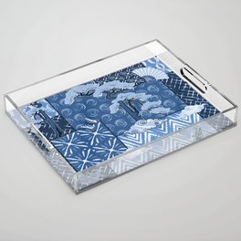 Shibori Quilt Acrylic Tray