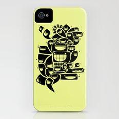 Happy Squiggles - 1-Bit Oddity - Black Version iPhone (4, 4s) Slim Case