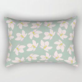 Apple Blossoms on a Breeze Rectangular Pillow