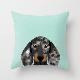 Doxie Dachshund merle dapple dog cute must have dog accessories dog gifts cute doxies dachshunds des Throw Pillow