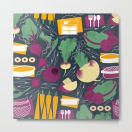 Root Vegetables Metal Print