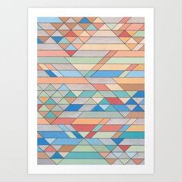 Triangle Pattern no.2 Colorful Art Print