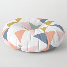 Floating Triangle Geometry Floor Pillow