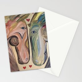 Horses In Love2 Stationery Cards