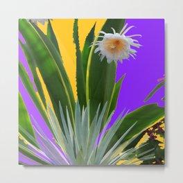 PURPLE DESERT CACTI & FLOWERS Metal Print