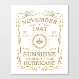 November 1941 Sunshine mixed Hurricane Canvas Print
