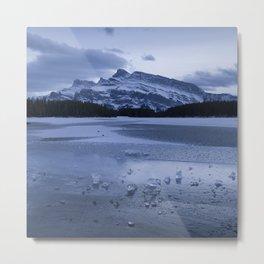Two Jack lake in winter Metal Print