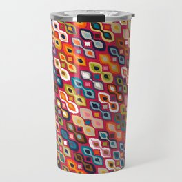 carnival ikat red Travel Mug