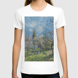 Alfred Sisley - Orchard In Spring T-shirt