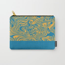 Liquid Swirl - Hawaiian Surf Blue and Citrus Yellow Carry-All Pouch
