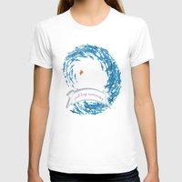 shabby chic T-shirts featuring just keep swimming.. shabby chic by studiomarshallarts