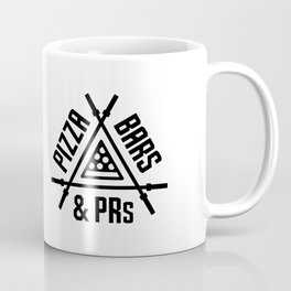 Pizza, Bars and PRs Fitness Triangle v2 Coffee Mug