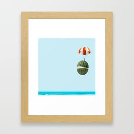 flying my watermelow Framed Art Print