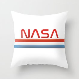NASA Three Stripes Logo Throw Pillow