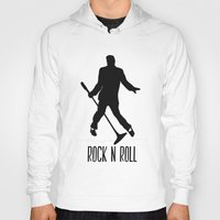 rock n roll Hoodies featuring Rock N Roll by Eleanor Rose