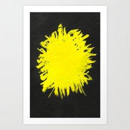 YELLOW AND BLACK Art Print