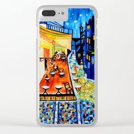 Cafe Terrace - Homage to Van Gogh Clear iPhone Case