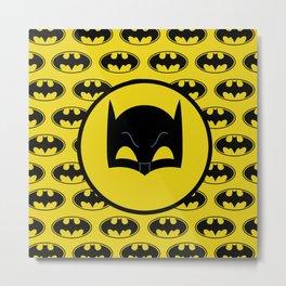 Super Hero Bat Shield Metal Print