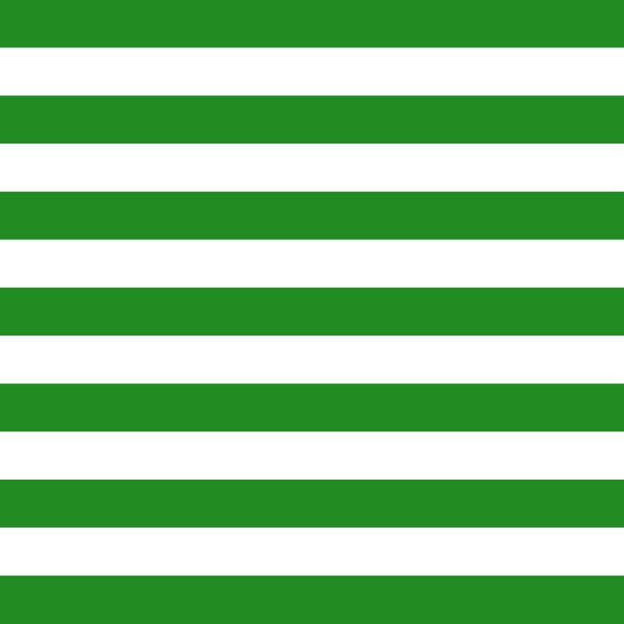 Horizontal Stripes (Forest Green/White) Comforters