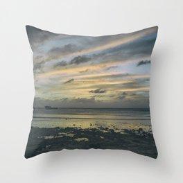 Shipwrecked Sunset Throw Pillow