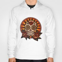 mexican Hoodies featuring Mexican skull by Elisa Gandolfo