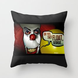 They Float, Georgie Throw Pillow