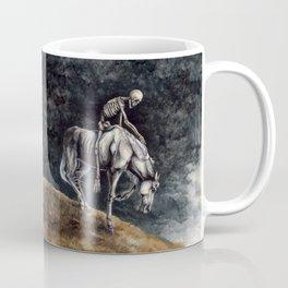 Skeleton Riding a Pale Horse Coffee Mug