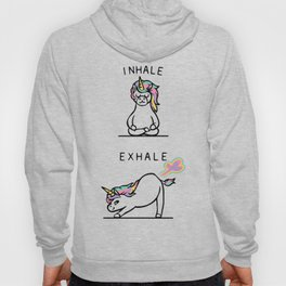 Inhale Exhale Unicorn Hoody