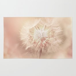 Pink Dandelion Flower - Floral Nature Photography Art and Accessories Rug