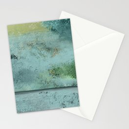 Green, Blue, Grays, Textures Stationery Cards