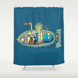The Submarine of Dr. Khozan Shower Curtain