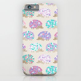 Hedgehog polkadot iPhone Case