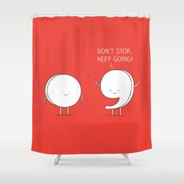positive punctuation Shower Curtain