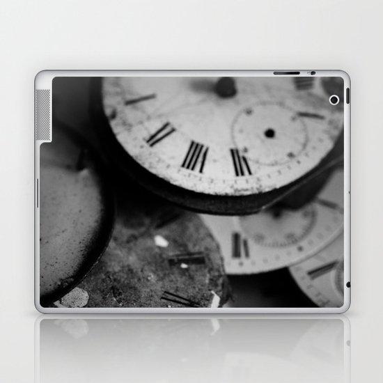 Time - Black and White Laptop & iPad Skin