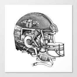 Football Helmet Canvas Print