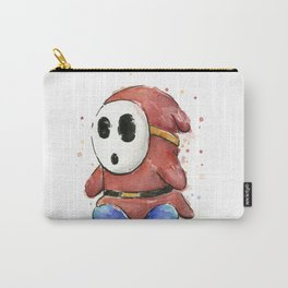 Shy Guy Watercolor Mario Art Carry-All Pouch