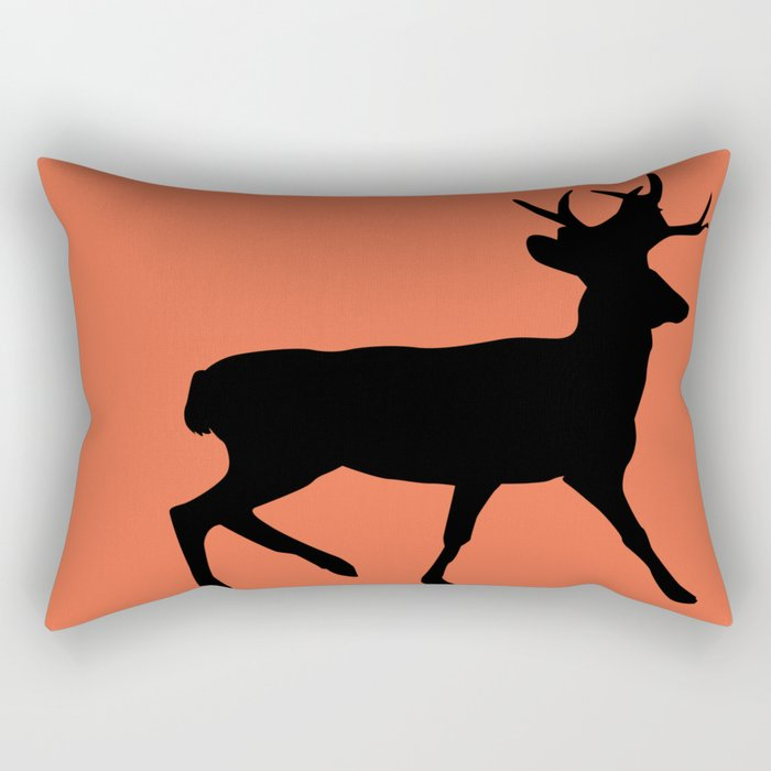 Deer orange Rectangular Pillow