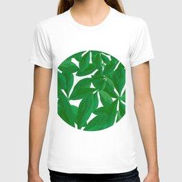 Summer Fresh Green Leaf White Background #decor #society6 #buyart T-shirt