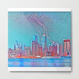 New York Skyline (1) Metal Print