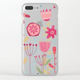 Wild Weeds and Flowers Clear iPhone Case