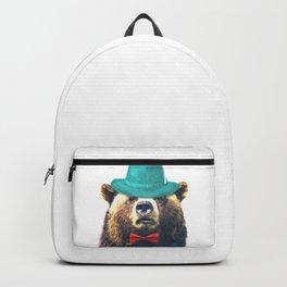 Funny Bear Illustration Backpack