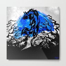 WOLF OF THE NIGHT Metal Print