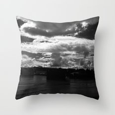 Atom Bomb Throw Pillow