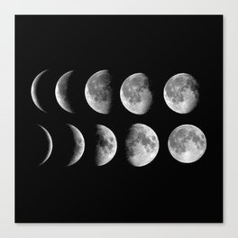 Phases (black) Canvas Print