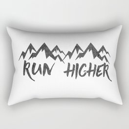 Run Higher  Rectangular Pillow