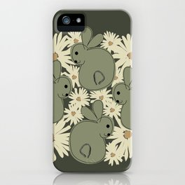 Bunny Green. iPhone Case